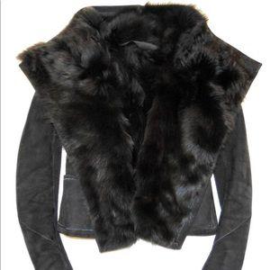 """AUTH. Rick Owens Leather/Fur """"Dark Shadow"""", IT 44"""